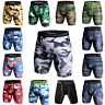 Men's Compression Shorts Gym Workout Running Fitness Boxer Briefs Camo Tights