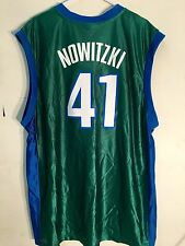 Adidas NBA Jersey Dallas Mavericks Nowitzki Green sz XL