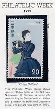 Japan 1972 Scott 1113 NH Philately Week Rising Balloon Nakamura Woman Binoculars