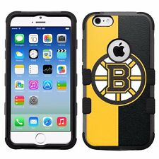 Boston Bruins #H Impact Hard+Rubber Hybrid Cover Case for Apple iPhone 6 6S