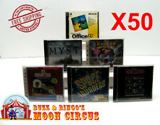 50X PC GAME / SOFTWARE CD-ROM JEWEL CASE -CLEAR PROTECTIVE BOX PROTECTORS SLEEVE