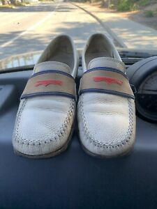 $729 Authentic BOTTEGA VENETA Made in ITALY Beige Leather Loafers Sz.10 FREE S&H