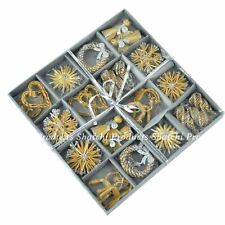 36pcs Hand Crafted Christmas Tree Hanging Ornament Decorations Wheat Straw