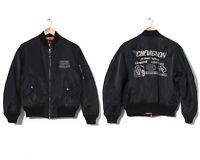 90s Vintage Mens CHEVIGNON MA 1 Bomber Jacket Black Size M