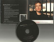 DAVID POE Echo Box w/RARE RADIO EDIT PROMO DJ CD single 2002 USA MINT