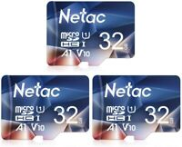 1/2/3 Netac 32GB Micro SD Card Class10 SDHC Memory Card TF Card for Phone/Camera