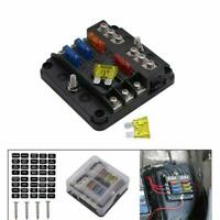 6 Way Blade Fuse Box Auto Car Kit With Cover Marine Fuse Box Holder 12V/24V/32V