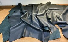 10 SQ FT HIDES OF GENUINE REAL BLACK PERFORATED TOP QUALITY LEATHER