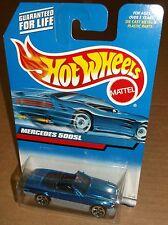 Hot Wheels 2000 Collector #134 Mercedes 500SL Blue Gray Grey Bottom 5DOTs 27101