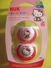 NUK Hello Kitty Orthodontic Pacifier Silicone 2 per Pack  6-18 Months Brand New