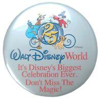 Vintage Walt Disney World 25th Anniversary Biggest Celebration Pinback