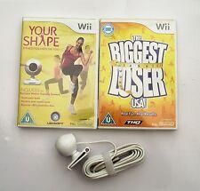 La sua forma e la fotocamera e il BIGGEST Loser Wii PAL