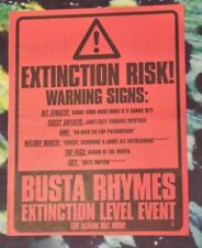 Busta Rhymes Extinction level  1999 press advert Full page 29 x 37 cm poster