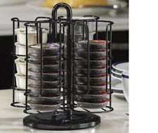"Tassimo T-Disc Pod HOLDER CAROUSEL 10"" Black Metal Holds 40 T Disc Non Slip Base"