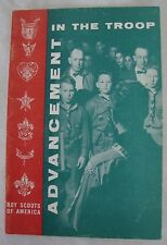 """Vintage 1966 """"Advancement in the Troop"""" Booklet BSA Scouting Boy Scouts America"""