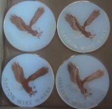 "Dayton Wire Wheels Set Of 4 White & Gold Metal Eagle Emblems Size 2.38"""