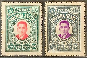 Malaya. Orchha State. Definitive Stamps. SG8 & 10. 1935. MNH. #AP224