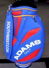 "NEW Adams Golf 9.5"" Staff Cart Bag - 6 Way Divider - Blue Red Yellow - RARE!"