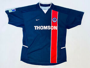 Paris Saint-Germain Ronaldinho Adult L Home Shirt 2002 - 2003 Nike / PSG Maillot