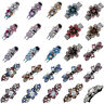 Women Retro Crystal Flower Butterfly Barrette Hair Clip Hairpin Booby Pin Gift