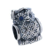 Authentic PANDORA Graduate Owl Charm, Swiss Blue Crystal & Clear CZ 791502NSB