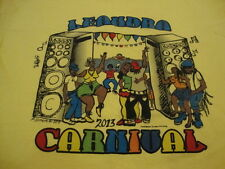 Leandra Carnival 2013 Rap Hip Hop Party Music Dancing Fun Yellow T Shirt L