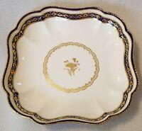 "Circa 1800 Derby Porcelain Shaped Dessert Dish Pattern 42 w/ puce Mark 8-5/8"""