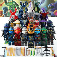 24pcs Ninjago Ninja Movie Lloyd Garmadon Cole Minifigure for LegoMoc Minifigure