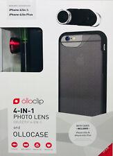 olloclip 4-IN-1 Photo Lens mit ollocase für iPhone 6/6s & 6/6s Plus, schwarz-rot