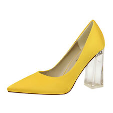 Women Pumps Stiletto Slip On High Heel Party Ladies Shoes US 7= CN 38 Yellow