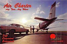 SUNBIRD AIR CHARTER seats 6-8  Airplane Postcard