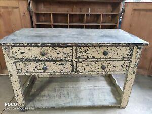 Bauhaus Werkbank shabby chic Theke Loft Tisch vintage Industrie Stil antik