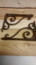 4 cast iron Antique Style Small SCROLL Shelf Brackets