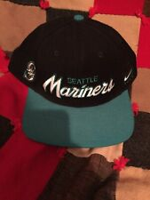 Seattle Mariners Nike Snapback Hat Vintage Nike Team MLB