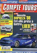Compte Tours Magazine   N°221   Juin 2008 : Impreza'08 est elle prete a battre l