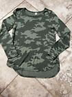Old Navy Camo Patterned Plush Knit Long Sleeve Shirt Crew Neck Super Soft Small