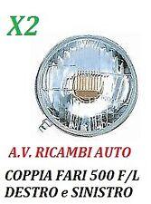 COPPIA FARI FANALE PROIETTORE ANTERIORE FIAT 500 F/L DAL 65 AL 75 R2 S/CORNICE