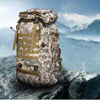 80L Outdoor Military Rucksacks Tactical Bag Camping Hiking Trekking Backpack ❤