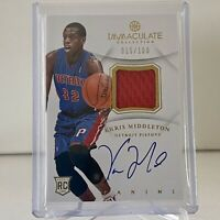 Khris Middleton 2012-13 Panini Immaculate  SSP /100 RPA Rookie Patch OnCard Auto