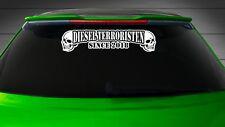 1x DIESEL TERRORISTEN Heckscheiben Aufkleber Auto Sticker Tuning Folie 226 XL