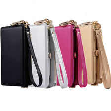 Multifunction Handbag Strap Zipper Wallet Clutch Phone Case for iPhone Samsung