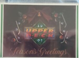 UPPER DECK CHRISTMAS CARD - 1991 - IN THICK PLASTIC HOLDER