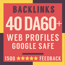 40 Backlinks from DA60 to DA100 High Authority Sites + Full Report