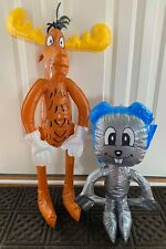 Rocky & Bullwinkle Inflatable Figures - Unused & New in Package