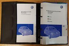 GENUINE VW NEW BEETLE HANDBOOK OWNERS MANUAL WALLET 2005-2010 PACK G-973