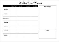 Comida semanal Planificador A4 A3-Casa Familia Niños planificador de comida lista de compras reutilizable
