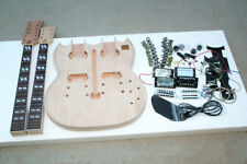 DIY SG Electric Double Neck Guitar Kit  Solid Mahogany Body & Neck