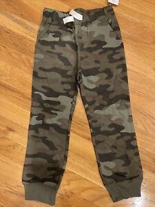 Carter's Knit Jogger Pants  Boys Size 5 Camo Nwt Adjustable Waist