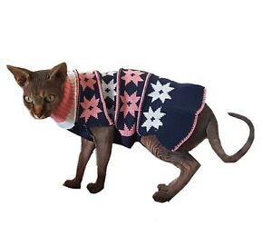 S/M Cat DRESS,  winter swester for Sphynx cat clothes, cat sweater, PETERBALD
