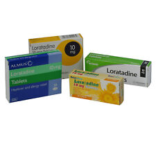 10mg Loratadine Hay fever, Pet, Dust Mite, Allergy Relief (6 x 30 = 180) Tablets